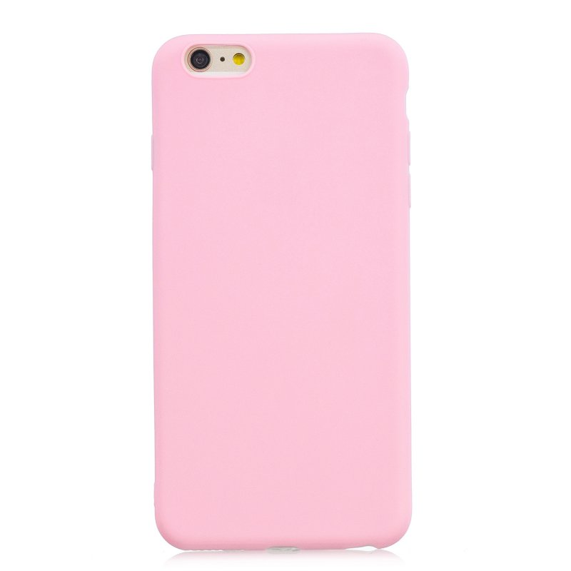 for iPhone 6/6S Lovely Candy Color Matte TPU Anti-scratch Non-slip Protective Cover Back Case dark pink