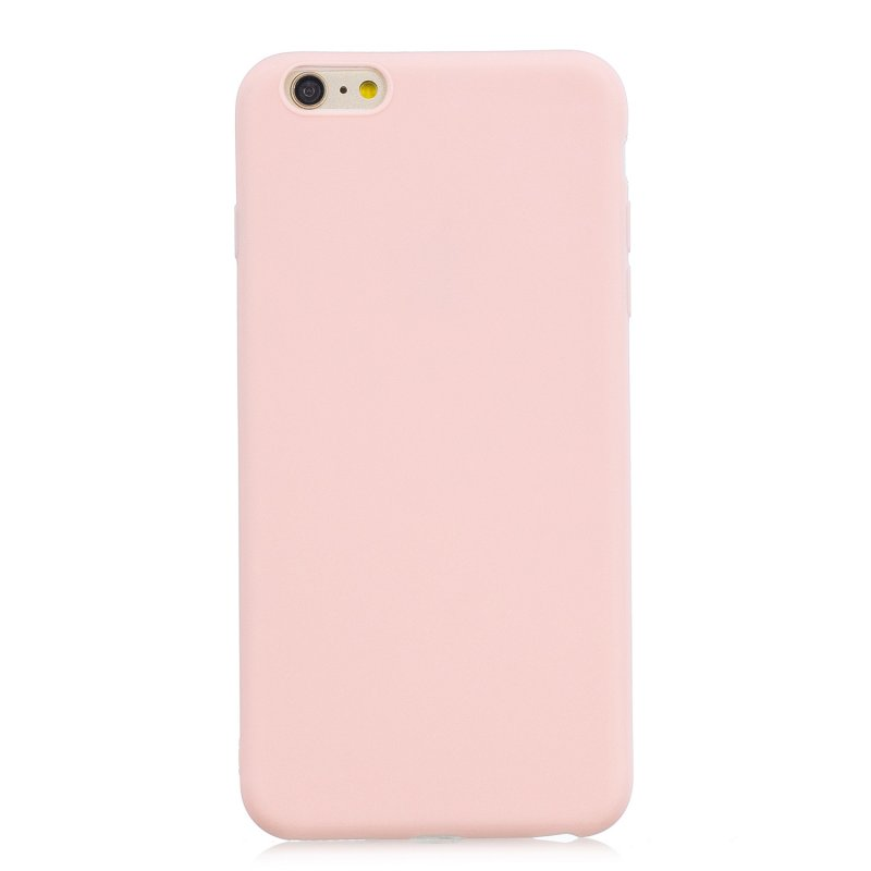 for iPhone 6/6S Lovely Candy Color Matte TPU Anti-scratch Non-slip Protective Cover Back Case Light pink