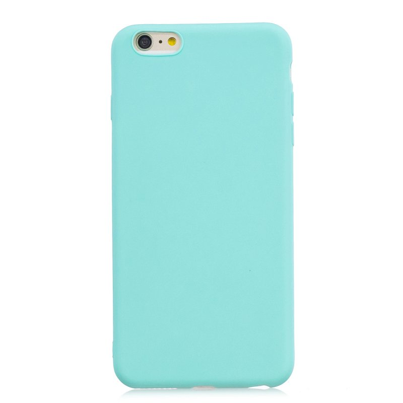 for iPhone 6/6S Lovely Candy Color Matte TPU Anti-scratch Non-slip Protective Cover Back Case Light blue
