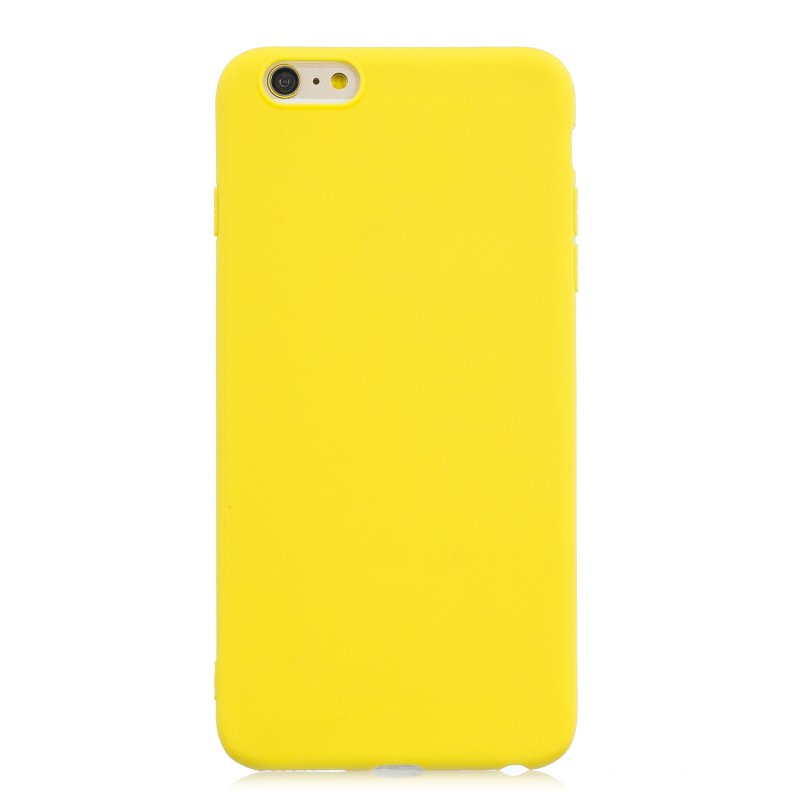 for iPhone 6/6S Lovely Candy Color Matte TPU Anti-scratch Non-slip Protective Cover Back Case yellow