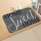 ground mat flannel surface + non-slip plastic bottom welcome hallway kitchen absorbent floor mat 40*60cm 1