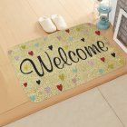 ground mat flannel surface + non-slip plastic bottom welcome hallway kitchen absorbent floor mat 40*60cm 2