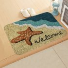ground mat flannel surface + non-slip plastic bottom welcome hallway kitchen absorbent floor mat 40*60cm 4