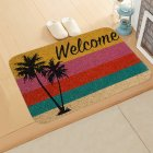 ground mat flannel surface + non-slip plastic bottom welcome hallway kitchen absorbent floor mat 40*60cm 6