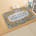 ground mat flannel surface + non-slip plastic bottom welcome hallway kitchen absorbent floor mat 40*60cm 7