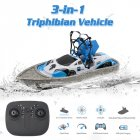 gw123 RC Mini Drone Boat Car Triphibian Vehicle Helicopter Dron Quadrocopter Remote Control Toys for Boys Girls Nano Dron 1 battery