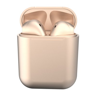i12 TWS Bluetooth 5.0 Headset Wireless Headphone Earbuds Earphones for Phone Champagne gold