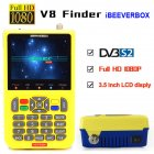iBRAVEBOX V8 Finer HD DVB-S2 Satellite Finder MPEG-2 MPEG-4 Better Finder Meter yellow
