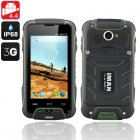 iMAN V3 IP68 Rugged Phone includes a 4 Inch OGS Screen  an Android 4 4 operating system  a Quad Core CPU as well as being Waterproof and Dust Proof