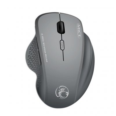iMICE G6 USB Wireless Mouse 1600DPI Gray