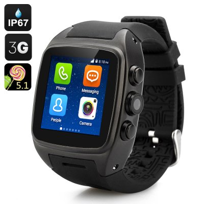 iMacwear SPARTA M7 Watch Phone (Black)