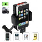 iPhone   iPod Car Charger and Holder   FM Transmitter for your car  Listen to your favorite music from your iPod or iPod app within your iPhone through your car