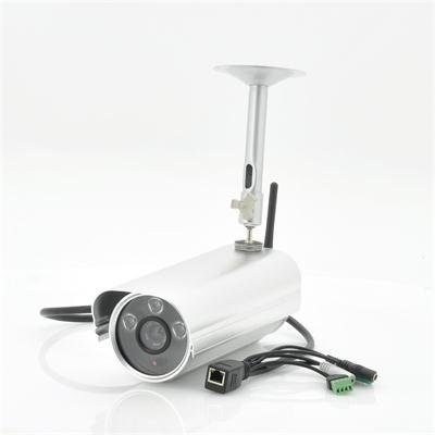 WDR Outoor IP Camera w/ Motion Detection
