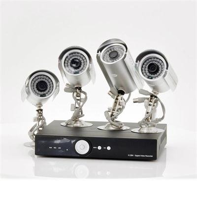 4 Camera Surveillance Set with 500GB DVR