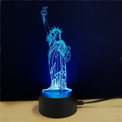 Statue of Liberty 3D LED Color Light
