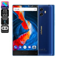 HK Warehouse Ulefone MIX Android Phone - Bezel-Less, 13MP Dual-Rear Camera, Android 7.0, Dual-IMEI, 4G, 4GB RAM (Blue)
