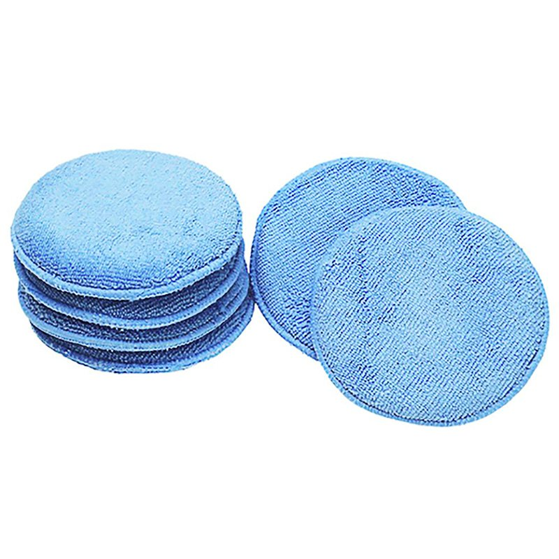 -soft Round Microfiber Wax Applicator Pads