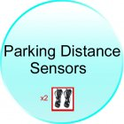 x2 Parking Distance Sensors for CVSEN A4805 Car Rear View Parking System  Left