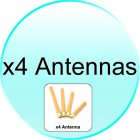 x4 Antennas for CVAL J50 High Power Signal Jammer