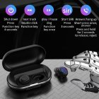 zlt Wireless Sports Earphone Bluetooth Earphone TWS Bluetooth Headset 5.0 Touch Sports Headset  Black silver