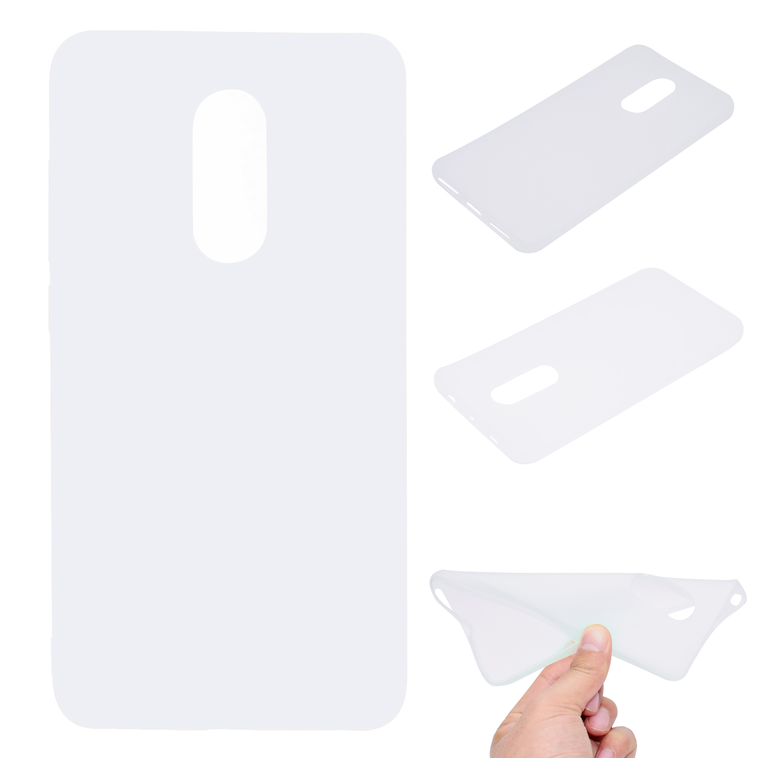 for XIAOMI Redmi NOTE 4X/NOTE 4 Lovely Candy Color Matte TPU Anti-scratch Non-slip Protective Cover Back Case white