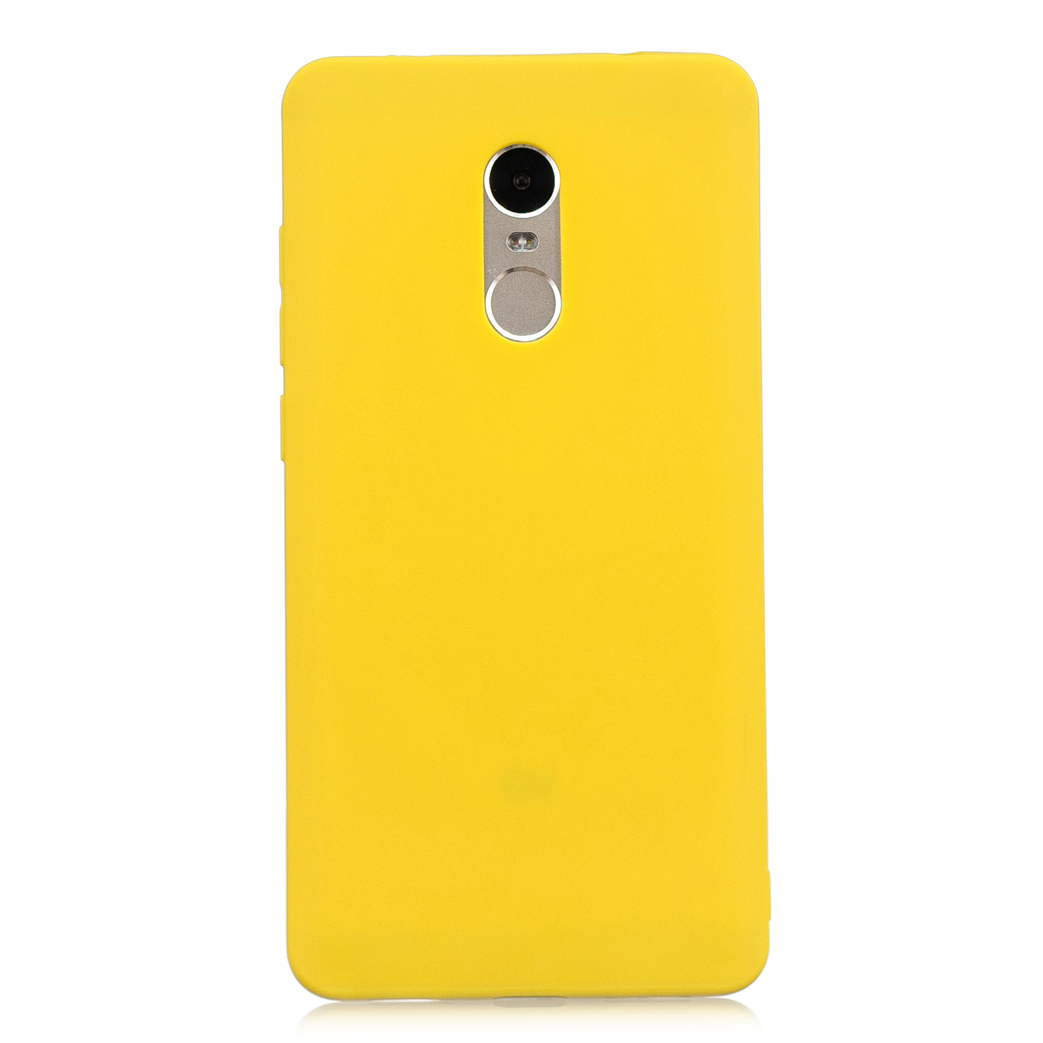 for XIAOMI Redmi NOTE 4X/NOTE 4 Lovely Candy Color Matte TPU Anti-scratch Non-slip Protective Cover Back Case yellow
