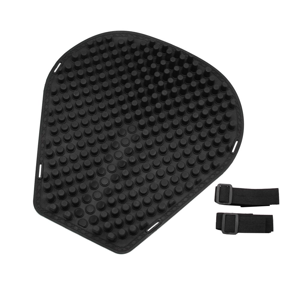 Motorcycle Silicone Seat Cushion Waterproof Antiskid E-bike Cushion Breathable Pressure Relief Air Cushions Black