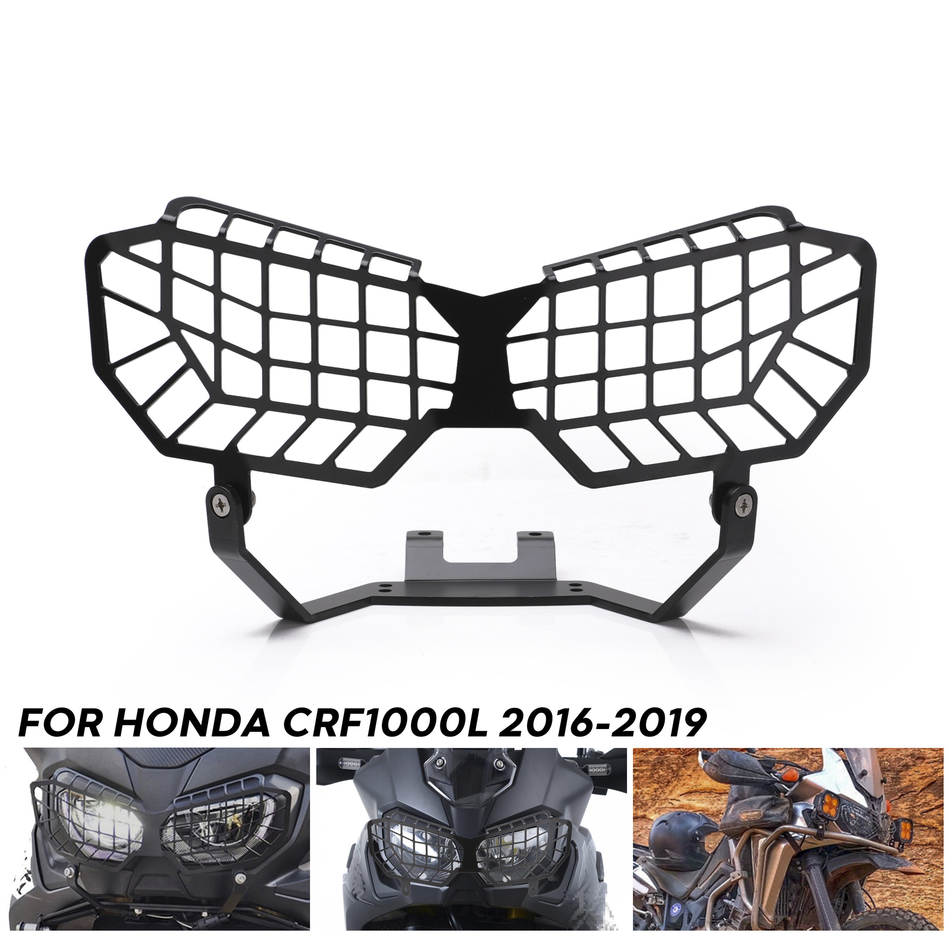 Motorcycle Grille Headlight Cover Protector Guard Lense For Honda Crf1000l 16-17 As picture show