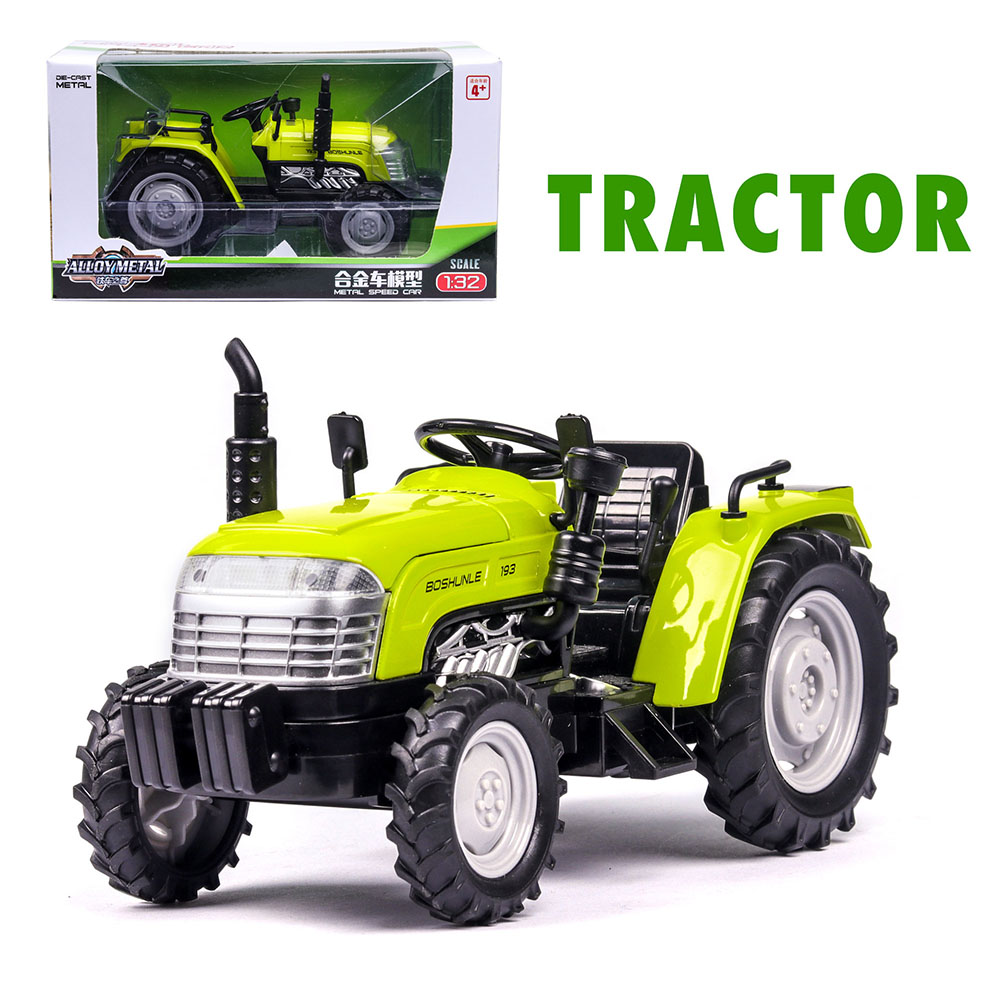1:32 Mini Simulation Alloy Tractor Shape Model Farmer Car Toy with Light Sound green