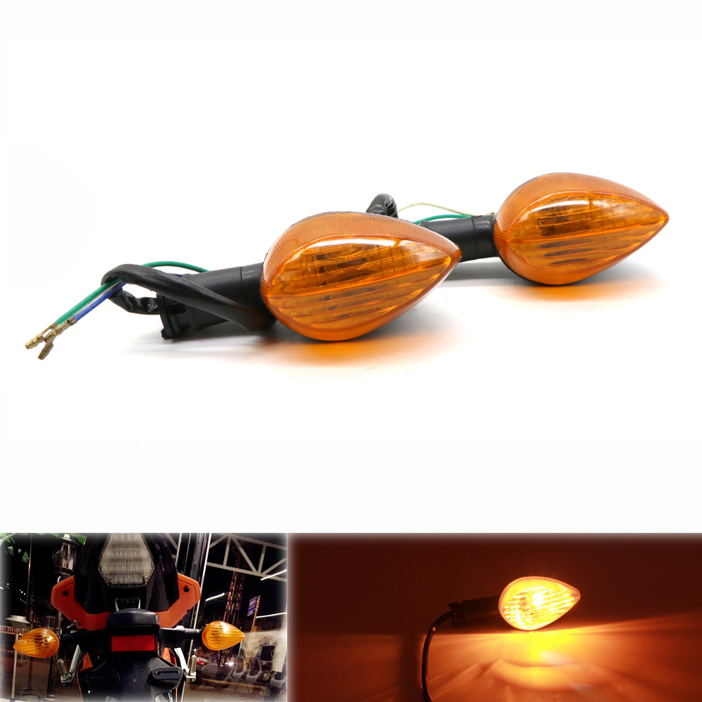 For YAMAHA R1 R25 R3 R6 XSR900 Motorcycle Accessories Turn Signals Indicator Light Lamp Yellow shell