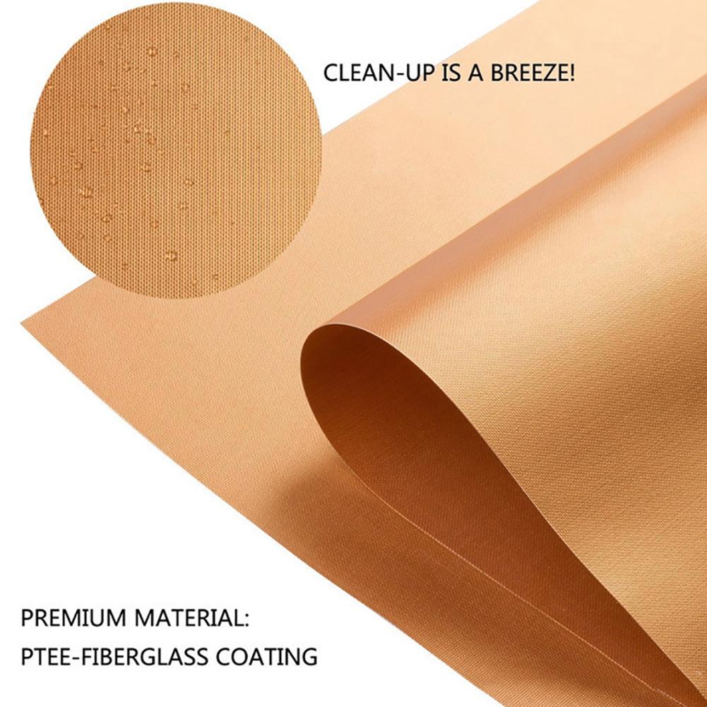 1PC Outdoor High Temperature Resistance Nonstick BBQ Baking Mat Copper color 40*33cm*0.2mm