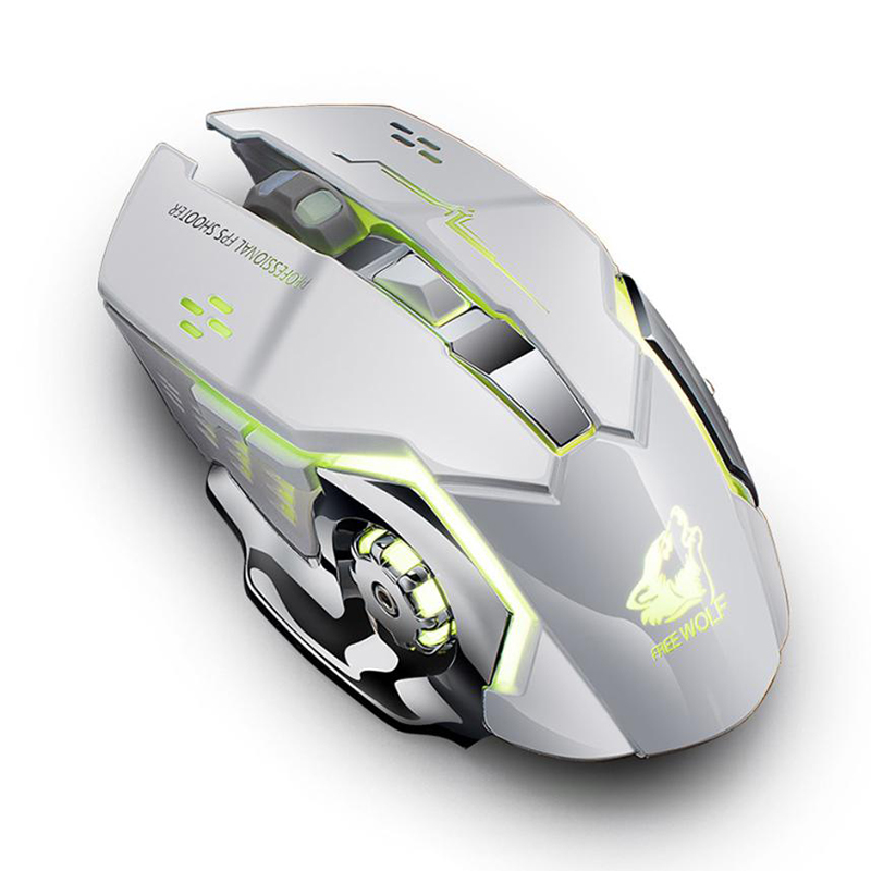 Free Wolf X8 Wireless Gaming Mouse White