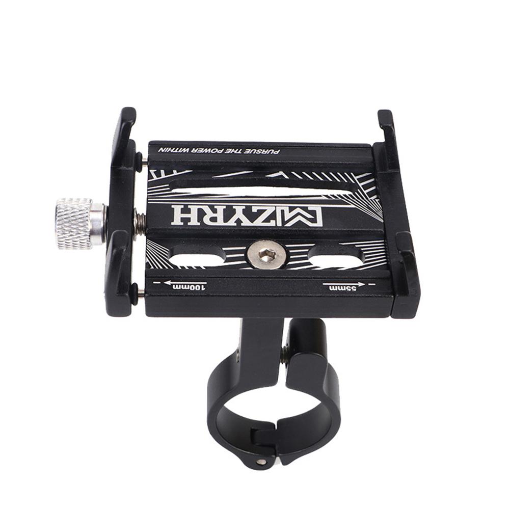 Metal Bike Bicycle Aluminium Alloy Phone Holder Motorcycle Handlebar Mount Handle New 01-black_One size