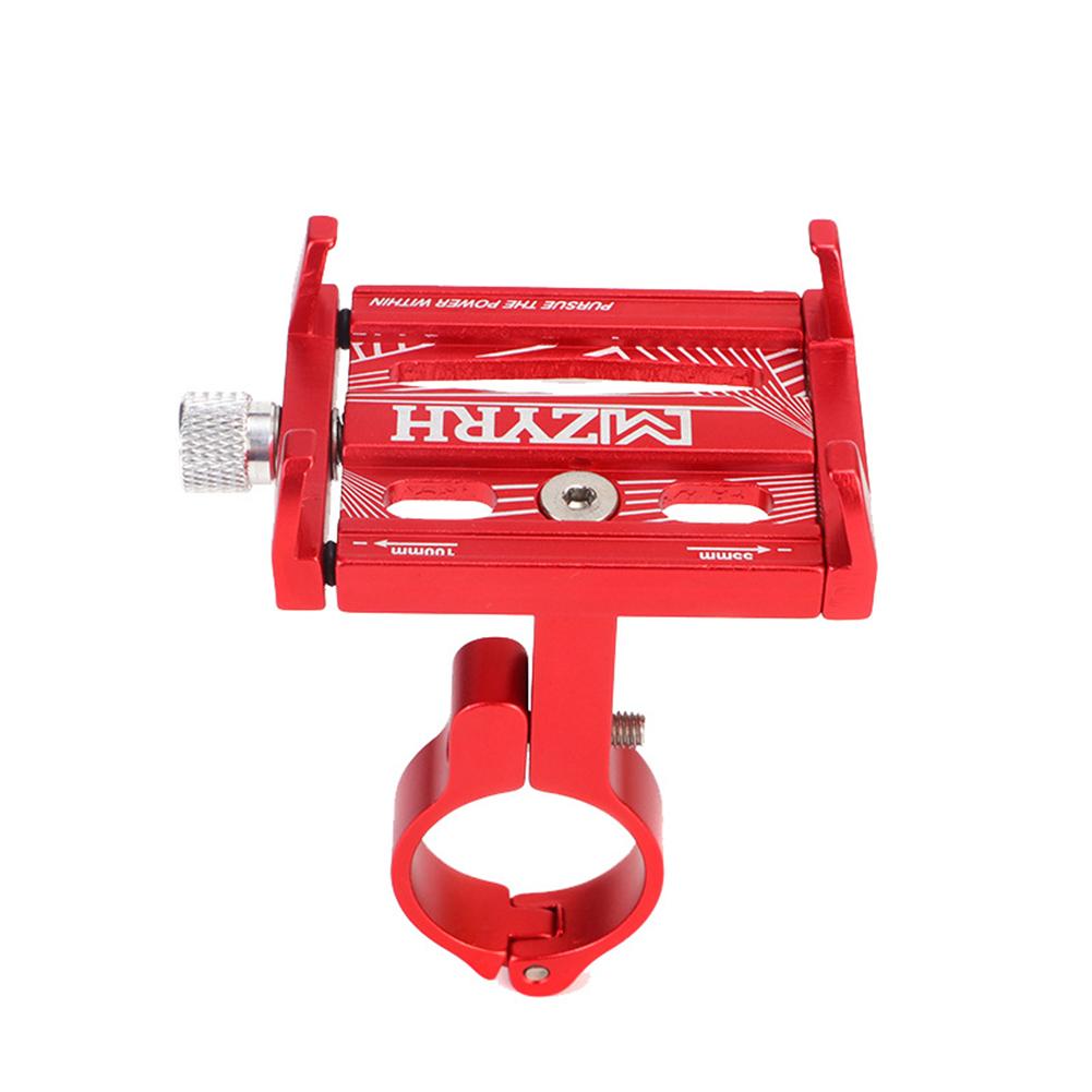 Metal Bike Bicycle Aluminium Alloy Phone Holder Motorcycle Handlebar Mount Handle New 01-red_One size