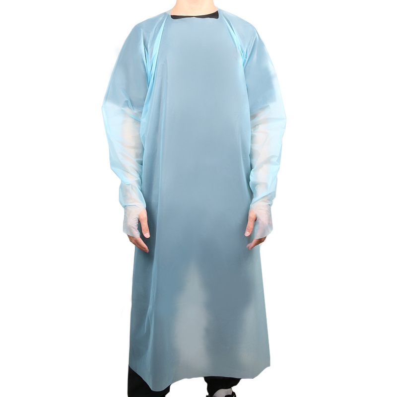 Thumb Buckle Sleeve Apron Gown Waterproof Protective Apron For Spray Painting Decorating Clothes Coverall Suit One size