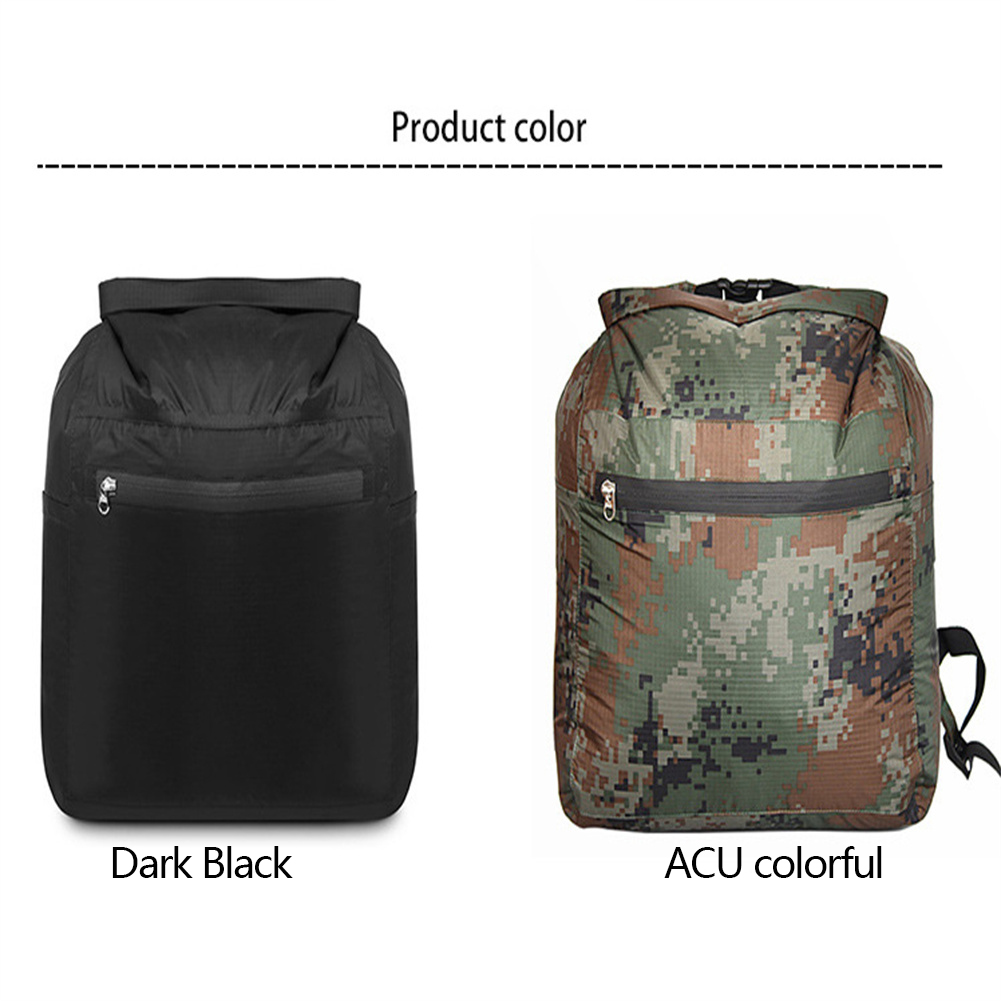 Waterproof  Bag Outdoor Beach Camping Boating Fishing Foldable Swimming Bag Double Shoulder Drifting Bag ACU colorful_15L