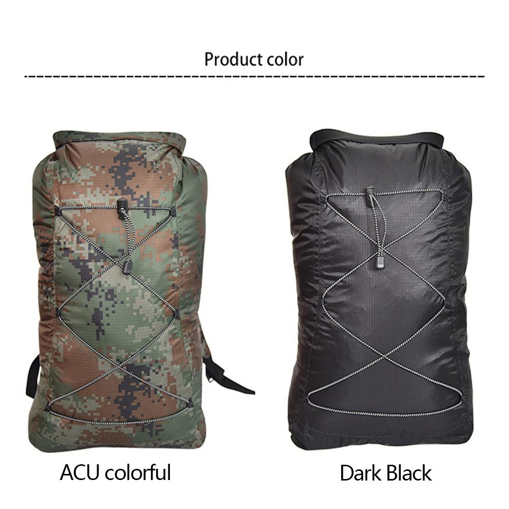 Waterproof  Bag Outdoor Beach Camping Boating Fishing Foldable Swimming Bag Double Shoulder Rafting Bag ACU colorful_23L