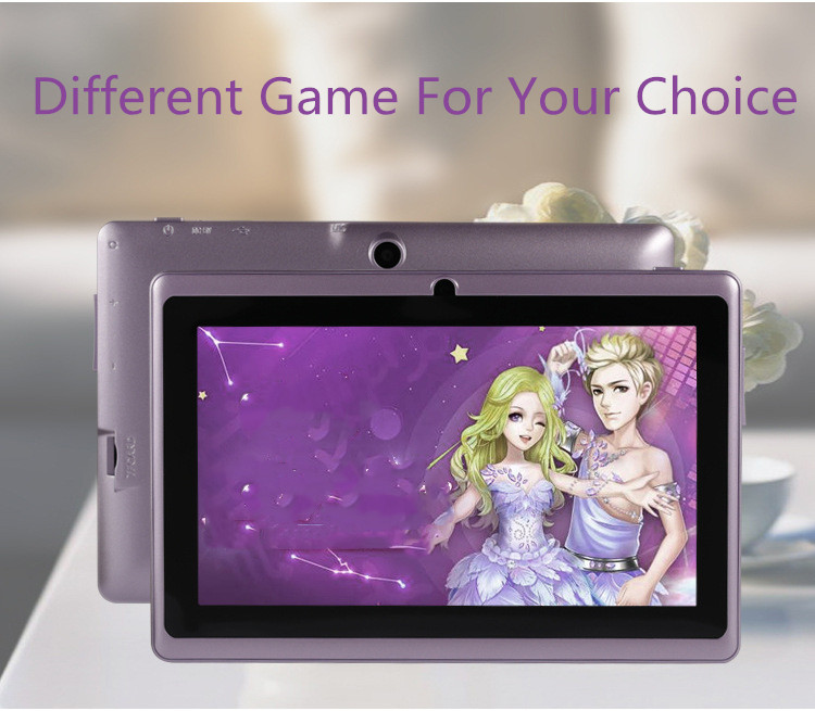 7 inch Tablet PC 1024x600 HD Pink_512MB+8GB