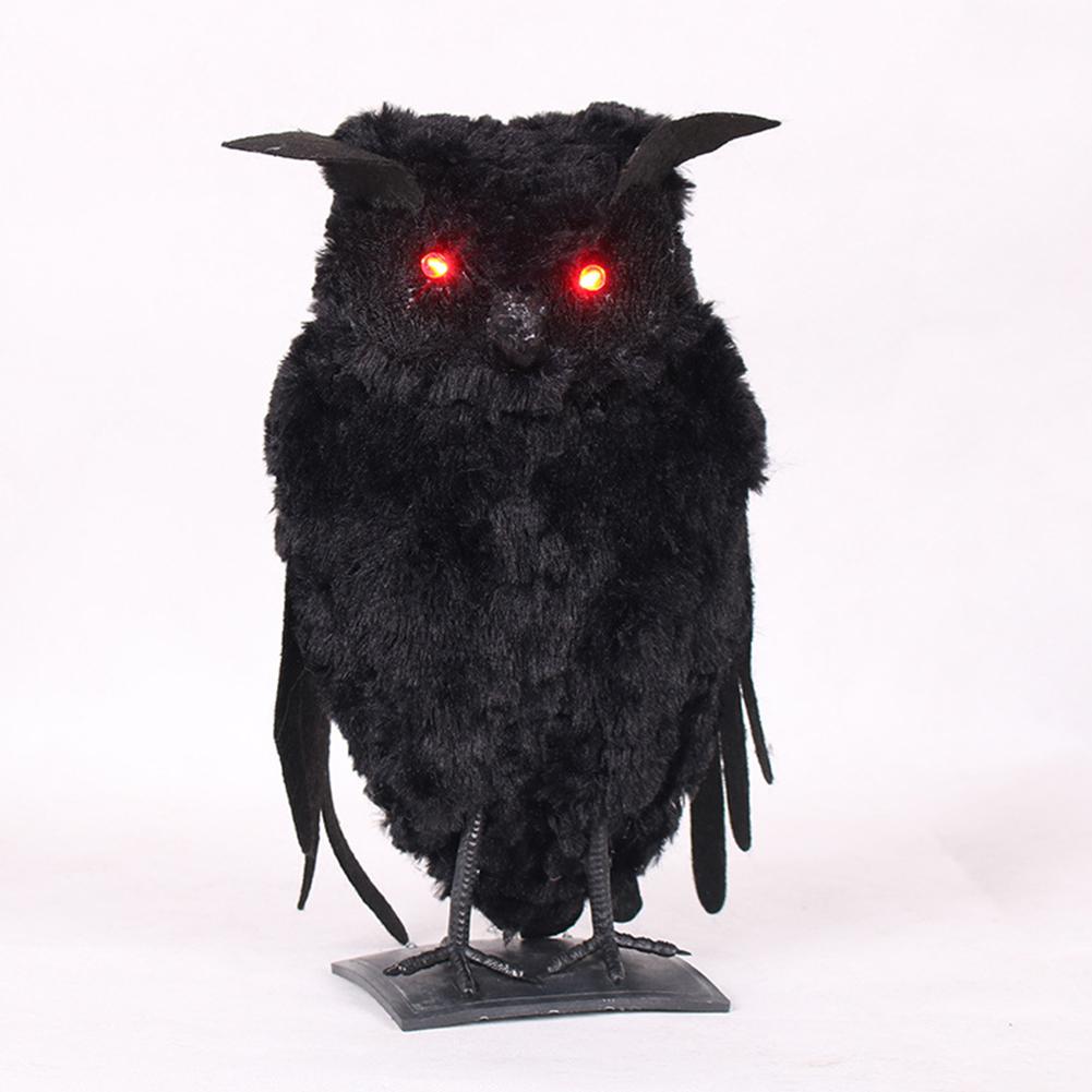 Luminous Simulate Animal Shape Hanging Pendant Halloween Haunted House Bar Decor Luminous station owl)