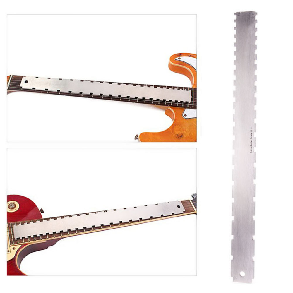 Guitar Accessories Gap Ruler Nut Curl Measurement Guitar Repair Tool Guitar Neck Measuring Ruler Silver