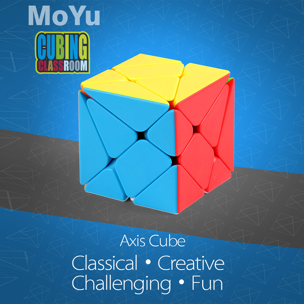 Axis Magic Puzzle Cube Puzzle Speed Cube Adult Kids Educational Challenging Toy Gift color
