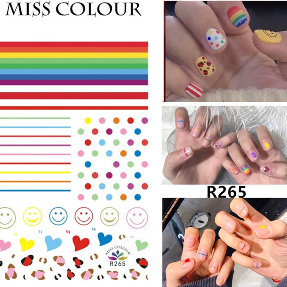 Manicure Nail Sticker Manicure Stickers Accessories Strawberry Rainbow Cherry Stickers Nail sticker_265