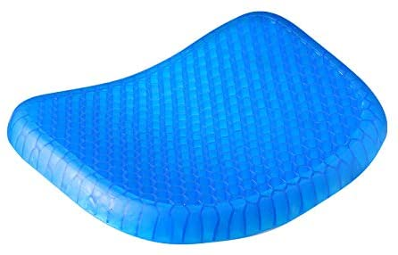 Breathable Cooling Honeycomb Design Gel Seat  Cushion Pad With Mesh Cover Pressure Sore Relief blue