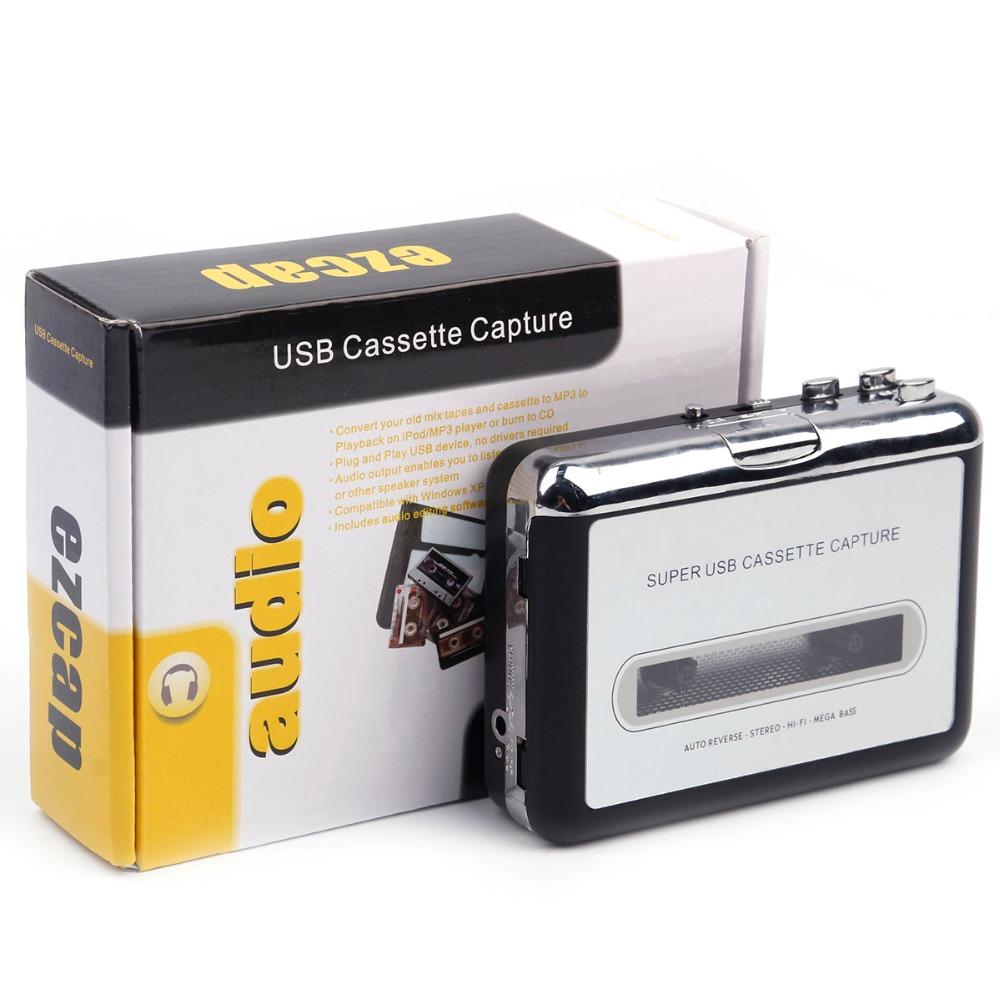Walkman Cassette Player USB Cassette to MP3 Converter Capture Audio Music Player Tape Cassette Recorder As shown