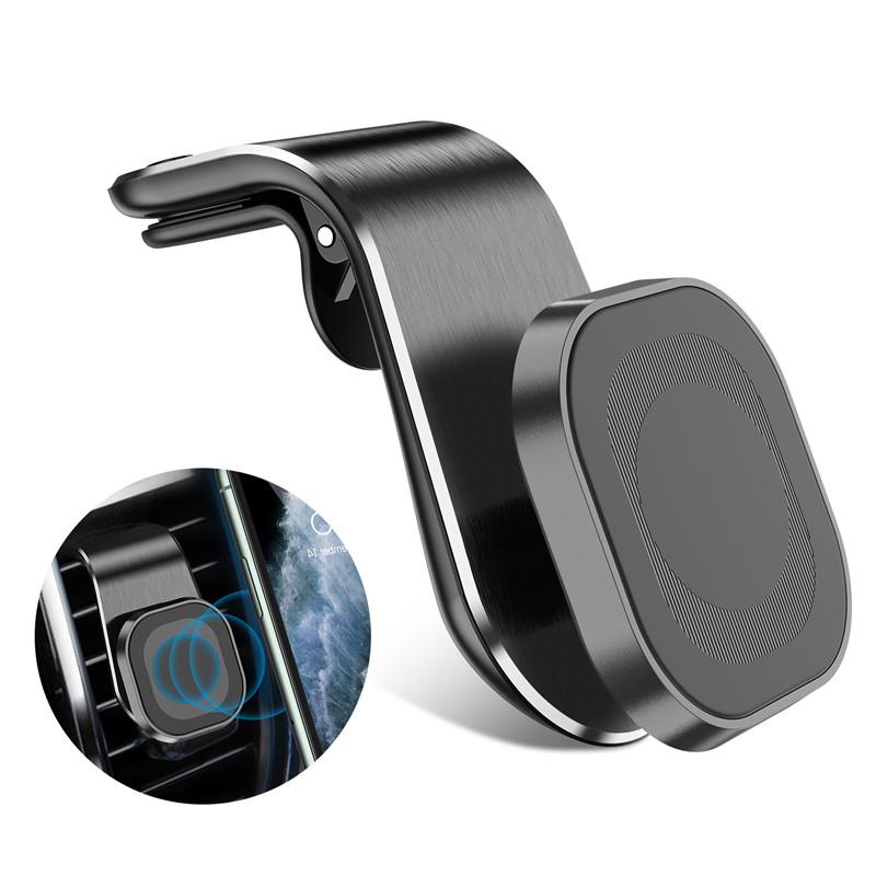 360 Metal Magnetic Car Phone Holder Air Vent Magnetic Car Holder Gps Mount Holder Magnet Stand black