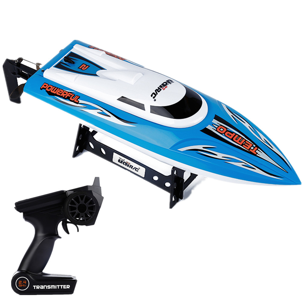 UDI 002 RC Boat 2.4GHz 4CH Remote Control Ship 180° Turn with Brushed Motor Water Cooling System blue