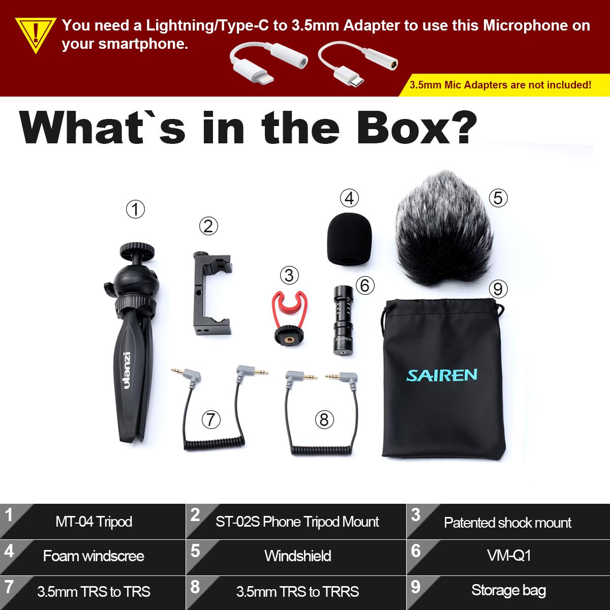 ULANZI Smartphone Video Kit Mobile Live Photography VLog Set black