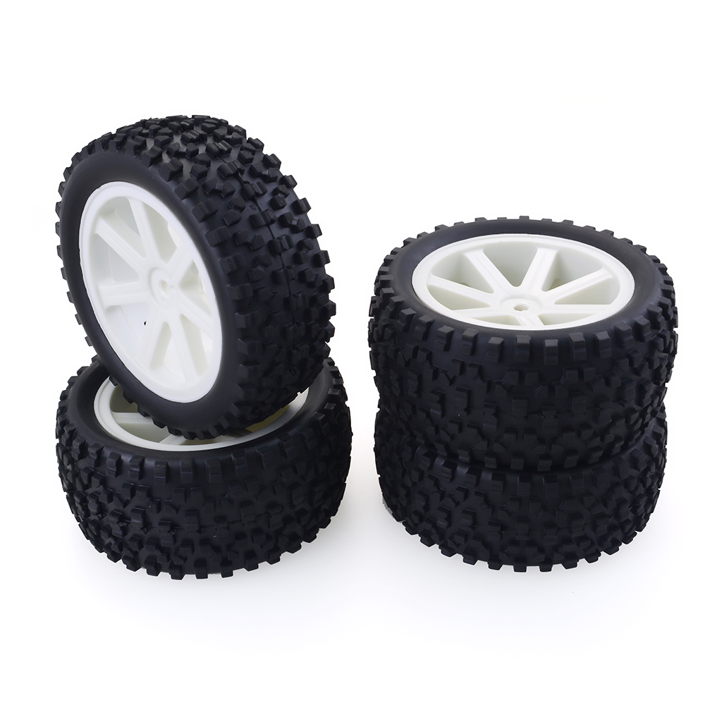 1/10 Buggy Off-road Vehicle Wheel for Redcat, HSP, HPI, Hobbyking, Traxxas, Losi, VRX, LRP, ZD Racing white