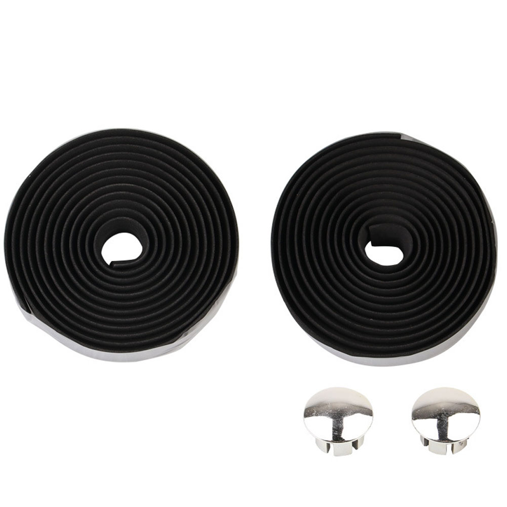 Bicycle Handlebar Tape Steering Wheel Cover Road Bike Cycling Handle Non-slip Belt Rubber Tape Bike Accessories black