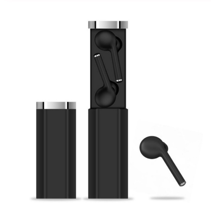 TW50 Wireless Sports Earphone Bluetooth Earphone HIFI Stereo Bass Noise Cancelling Headset Dual Microphone with Charging Box  black